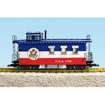 Woodsided Caboose Patriotic