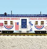 USA TRAINS Bunk Car God Bless America