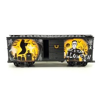Glow In The Dark Scary Halloween Box Car