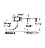 Kadee #747 Spur 0 Kupplungen mit Schacht 2 Paar