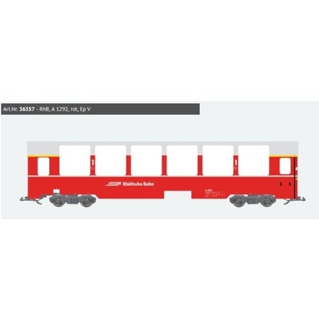 ESU Panoramawagen BEX, Pullman IIm, RhB A 1292, rot, Ep V