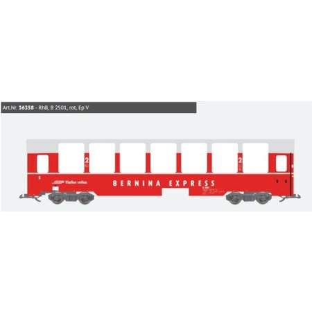ESU Panoramawagen BEX, Pullman IIm, RhB B 2501, rot, Ep V