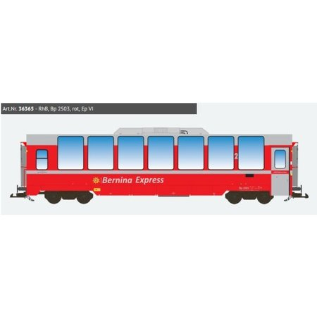 ESU Panoramawagen BEX, Pullman IIm, RhB Bp 2503, rot, Ep VI