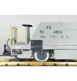 ESU Schotterwagen Set (Fd 4851, Fd 4852, Fd 4853), MGB, staubgrau, Ep VI