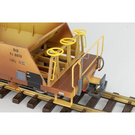 ESU Schotterwagen Set (Fd 8660, Fd 8662, Fd 8663), RhB, ockergelb, Ep V