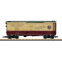 Napa Valley Wine Train gedeckter Güterwagen