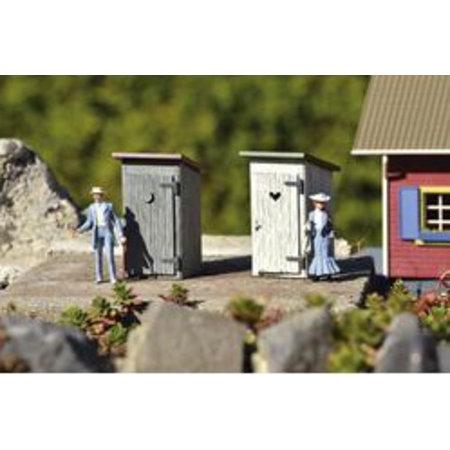 PIKO Fertigmodell Toilettenhäuschen (2 Stück)