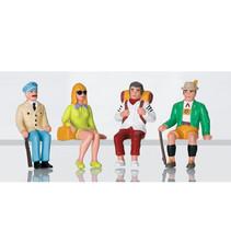 Figuren-Set Touristen sitzend