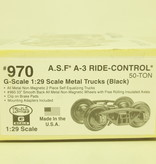 Kadee Spur G Kadee 970 A.S.F A3 Ride-CMetall Roller Bearing Trucks w.33 in.smooth back