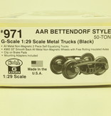 Kadee Spur G Kadee 971 AAR Bettendorf Metall Roller Bearing Trucks w.33 in.smooth back
