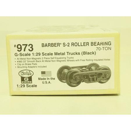 Kadee Spur G Kadee 973 Barber S-2 Metall Roller Bearing Trucks with 33 in. smooth back