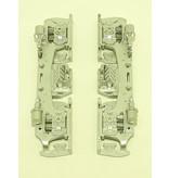 USA TRAINS Drehgestellblenden für GP38-2, GP 30, GP 7/9, F3 AB in Silber