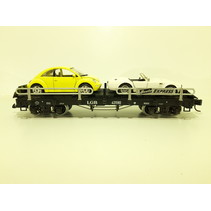 Autotransportwagen 43590 beladen