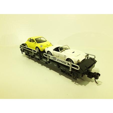 LGB Autotransportwagen 43590 beladen
