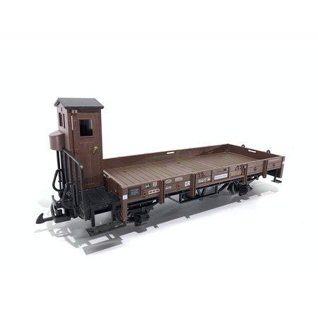 LGB 2-achsiger DR Flachwagen mit Bremserhaus  (gebraucht)