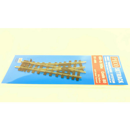 Peco H0e Weiche links 22,5° Code 80 (in OVP) ST-406