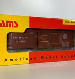 AMS 0n30 On30 Box Car Rio Grande (geniale Qualität) Wagennummer 3045