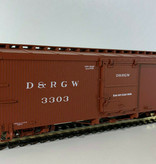 AMS 0n30 On30 Box Car Rio Grande (geniale Qualität) Wagennummer 3187