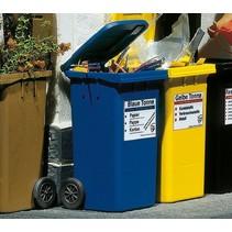 2 Mülltonnen, blau