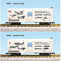 """Steel Box Car WWII """"Battle of Midway"""""""
