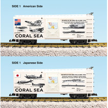 """Steel Box Car WWII """"Battle of the Coral Sea"""""""