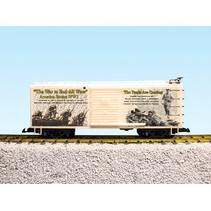 "Steel Box Car WW1 ""Yanks Are Coming"""