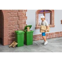 2 Mülltonnen, grün