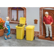 2 Mülltonnen, gelb
