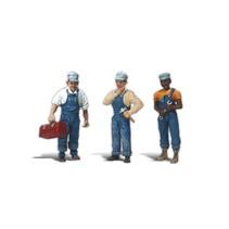 Spur G drei Zugmechaniker