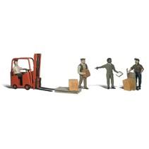 Spur 0 Arbeiter mit Gabelstapler