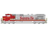 GE Dash 9 Santa Fe Warbonnet  #625