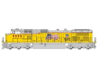 GE Dash 9 UP with flag  #9599