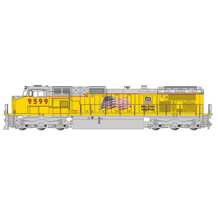Bachmann Trains GE Dash 9 UP with flag  #9599