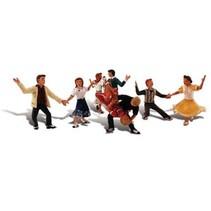 Spur H0 Tanzende Leute