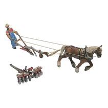 Spur H0 Pflug, Scheibenegge, Pferd