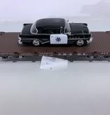 LGB Flatcar SR & RL beladen mit Polizei Fahrzeug (sehr guter Zustand)