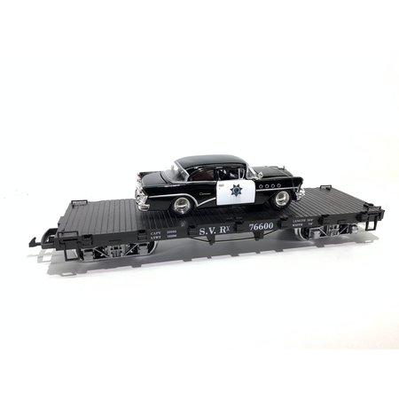 LGB Flatcar SVR beladen mit Polizei Fahrzeug (sehr guter Zustand)