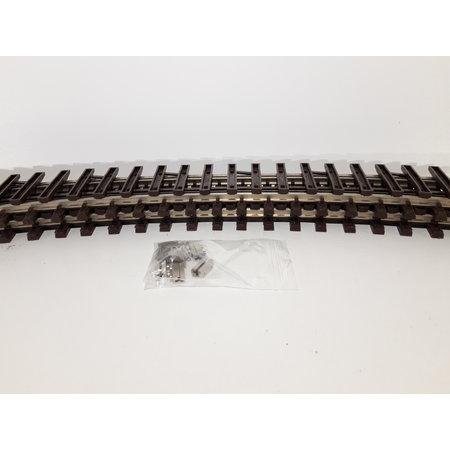 LGB 4x 90cm gebogenes Gleis (vernickelt) Spur G passend zu LGB inkl. Schraubschienenverbinder (gebraucht)
