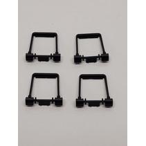 Spur G Stirrup for Sideframes-Anbauteile für Drehgestellblenden in schwarz