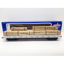 Santa Fe Flatcar mit Holzladung (Lagerfund)