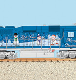 USA TRAINS GP 30 Christmas - Let it Snow