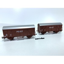 Güterwagen-Set PTT Postwagen sehr guter Zustand