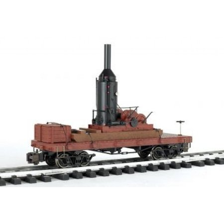 Bachmann Trains Bachmann Log Skidder with Crates on 20' Log Car