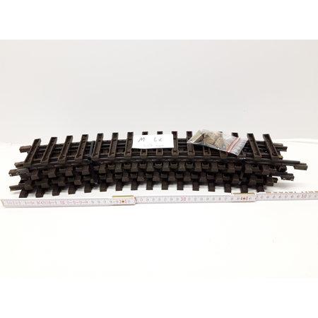 LGB 6x 50cm gebogenes Gleis (Messing) Spur G passend zu LGB inkl. Schraubschienenverbinder (gebraucht)
