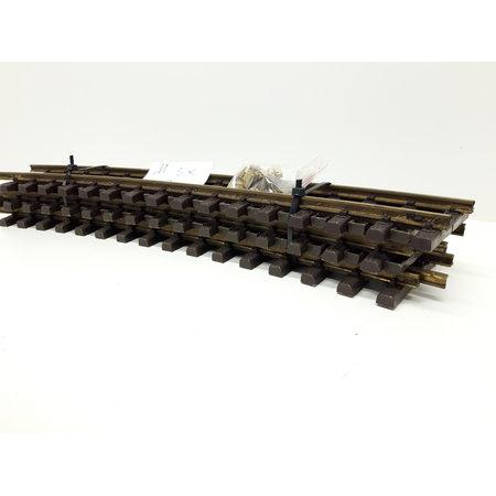 LGB 5x 50cm gebogenes Gleis (Messing) Spur G passend zu LGB inkl. Schraubschienenverbinder (gebraucht)