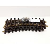 6x 30cm gebogenes Gleis (Messing) Spur G passend zu LGB inkl. Schraubschienenverbinder (gebraucht)