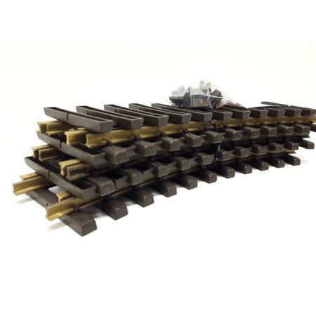 LGB 6x 30cm gebogenes Gleis (Messing) Spur G passend zu LGB inkl. Schraubschienenverbinder (gebraucht)