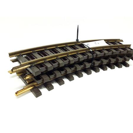 LGB 5x 30cm gebogenes Gleis (Messing) Spur G passend zu LGB mit Schienenverbinder (gebraucht)