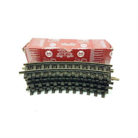 LGB 9x 30cm gebogenes Gleis R1 (Messing) Spur G passend zu LGB (gebraucht)