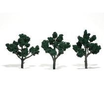 Baum (Fertigmodell) - Dunkelgrün 3er Pack  (groß)